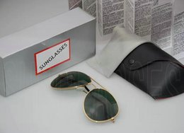 Wholesale red aviator - Luxury Brand Polarized Sunglasses Men Women Pilot Sunglasses UV400 Eyewear Aviator Glasses Driver Metal Frame Polaroid Lens