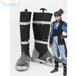 Wholesale Boot Irons - Wholesale-Kabaneri of the Iron Fortress Kurusu Cosplay Shoes Boots Professional Handmade ! Perfect Custom for You !