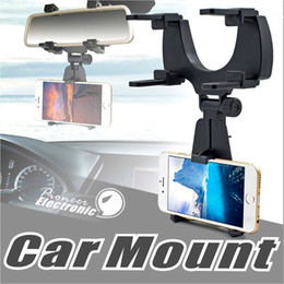 Wholesale Rearview Mirror Holders For Iphone - Car Mount Holder Car Rearview Mirror Mount Truck Auto Bracket Holder Cradle for iPhone X 8 8 plus Samsung GPS   PDA   MP3   MP4 devices