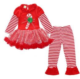 Wholesale Dress Tutu Skirt Leggings - spring autumn girls Christmas tutu dress+pants kids sets children cotton suits baby sets skirts+leggings 1set pack SDF006