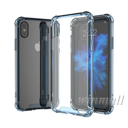 Wholesale Cheap Note Covers - Cheap Hybrid Rubber Shockproof Heavy Duty Armor Bumper Soft TPU Frame + Hard Acrylic Back Cover Case For iPhone X 8 iPhone 6s S8 Note 8