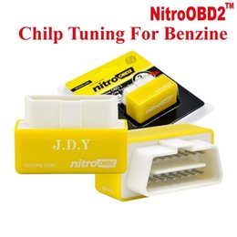 Wholesale Power Performance Cars - Outzone NitroOBD2 Performance Chip Tuning Box Nitro OBD2 OBD Plug and Drive More Power Torque For NitroOBD Gasoline Benzine Petrol Cars