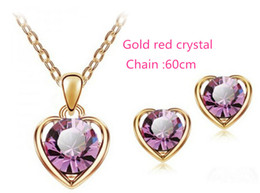 Wholesale Cheap Peacock Necklaces - Earrings necklace suit women jewelry fashion necklace cheap for the wholesale with chain 45cm