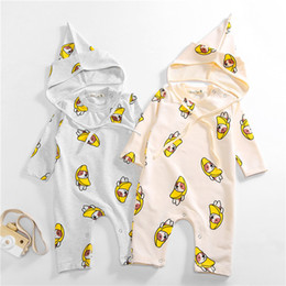 Wholesale cheap clothing for dogs - Baby Cotton Rompers Dogs Printed Jumpsuits Infants Pajamas Hats 2pcs Sets For Spring Autumn Kids Clothing Cheap Free DHL 495
