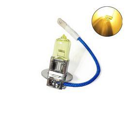 Wholesale Universal Hid Fog Lamps - New 2pcs Gold Light 12V 55W H3 HID Halogen Auto Car Fog Light Bulbs Lamp Auto Parts Xenon Car Light Source Accessories