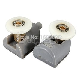 Wholesale Stainless Steel Shower Rollers - 2Pcs Wholesale High Quality Nylon Plastic 304 Stainless Steel ABS Brass Shower Door Rollers Runners Wheels Pulleys 25mm Wheel