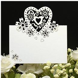 decoraciones de la mesa de invitados de la boda Rebajas Tarjetas de nombre de corte por láser Tarjetas de nombre de boda Tarjeta de nombre de huésped Tarjeta de banquete de boda Decoración de boda