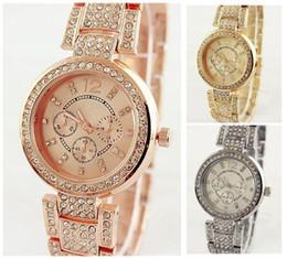 Wholesale Bling Buckle Bracelet - New Model Women Fashion Bling Crystal Stainless Steel Analog Quartz Luxury Rhinestone Wrist Watch Crystal Dial Bracelet Quartz Watches