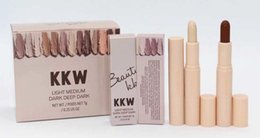 Wholesale Cosmetic Stickers - Kylie Cosmetics kkwbeauty Cream Contour&Highlighter Concealer sticker 4 colors Light Medium Dark Deep Dark 12pcs box mix color