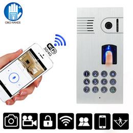 Wholesale Outdoor Keypad - IP55 Waterproof Wireless WIFI Video Doorbell Outdoor Camera With Fingerprint Password Metal Keypad IR Night Version Intercom