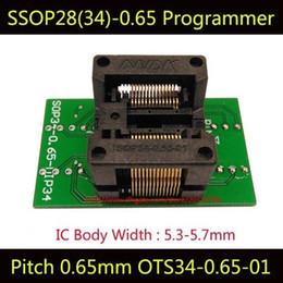 Wholesale Tssop28 Adapter - SSOP28 TSSOP28 Programming Socket OTS-34-0.65-01 Chip IC Test Socket Burn in Socket Bounce Socket Adapter