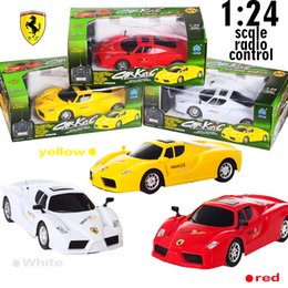 Wholesale Radio Remote Control Drift Car - 2017 3-color professional drift remote control car Ferrari two-wheel drive wireless remote control baby carriage toy car 1:24 scale radio