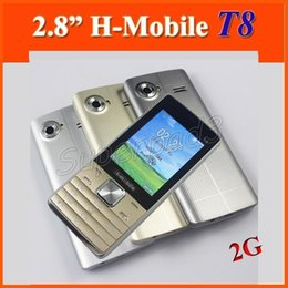 "Wholesale Cheap Best Mobiles - 30pcs Cheap 2G H-Mobile T8 GSM Dual SIM Cards Dual Standby Qwerty 2.8"" Cellphone Bluetooth Camera MP3 Best Gift For Relatives Friends"