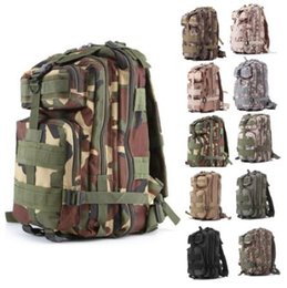 Wholesale Wholesale Military Backpacks - 30L 3P Attack Tactical Military Backpacks Unisex Outdoor Travel Bag Mountaineering Hiking Backpack Camping Trekking Rucksack CCA7025 50pcs