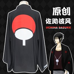 Wholesale Free Naruto Games - Naruto Akatsuki Uchiha Itachi Sasuke Cosplay Halloweem Party Capes Chiffon Cloak Sun Protective Bathrobe