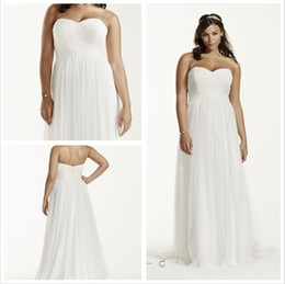 Wholesale Plus Size Sweetheart Wedding Dress - 2016 Plus Size Sheath Wedding Dresses Sweetheart neckline with criss-cross ruching bodice and Back Zipper close 9WG3438 Tulle gowns
