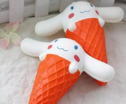 Wholesale Strap Big Dog - Kawaii Squishy Big Ear Dog Ice Cream Squeeze Slow Rising Charm Sress Relief Phone Straps Scented Key Pendant Kid Toy