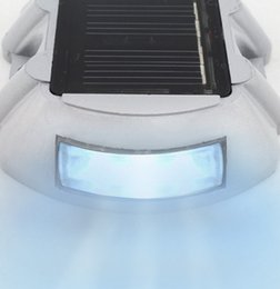 Wholesale Solar Powered Led Lights Dock - Wholesale- Solar Power 6 LED Outdoor Garden Road Driveway Dock Path Security Lights