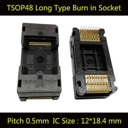 Wholesale Industrial Socket Types - TSOP48 Long Type Open Top Burn in Socket Pin Pitch 0.5mm IC Size 12X18.4mm Test Socket Adapter The Transposon Adapter Conversion Block