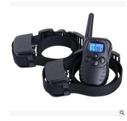 Wholesale Two Dog Shock Collar - Remote 300M control Anti-Bark Dog Training Stop Barking Shock Control Collar Ultrasonic Shock Aid Control Free shipping