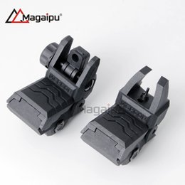 Wholesale Back Up Sights - Mgpcqb floding back-up polymer sight front and rear hunting Rifle scopes for 20mm rail mount AR15 M4 arisoft