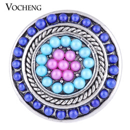 Wholesale Beads Girls - VOCHENG NOOSA 18mm Custom Snap Button Filled Round Bead Gift for Girls Vn-1127