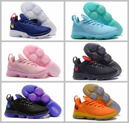Wholesale Fabric Basket Weaving - 2017 Air James 14 Men Basketball Shoes for LBJ 14 Low EP Sport Weave Basket Ball Olimpic Gold Pink Black Outdoor Trainers Boot