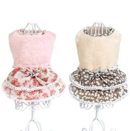 Wholesale Dog Girl Clothing - Dog Clothes Pet Puppy Little Girl With Sweater Charm Apparel chihuahua products for dogs Winter Warm Pet Dog Clothes Vest