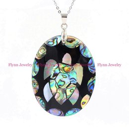 Wholesale Turtles Shells Wholesale - 2016 Hot Charm Oval Turtle Natural Abalone Shell Splicing Pendant Accessories Silver Plated European Trendy Jewelry Amulet 10pcs