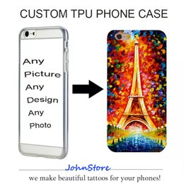 Wholesale Picture Iphone Case - 2017 Customized Phone case Custom Design DIY Photo Picture TPU Phone Case For iPhone 6 6S 6sPlus 7 7Plus iPhone Samsung Huawei.