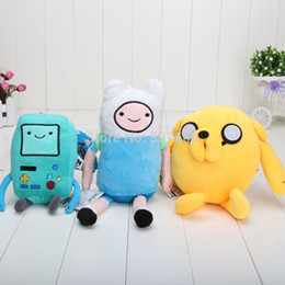 Wholesale Beemo Figure - 3pcs lot Cartoon Toy Anime Adventure Time Finn Jake Beemo BMO soft figure plush doll 1231#31