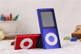 """Wholesale Hot Free Blue Video - Hot Sale Cheap Real Capacity 4GB Slim 1.8"""" 4th LCD MP3 MP4 Player FM Radio Video Multi Colors DHL Free"""