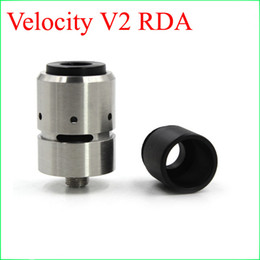 Wholesale Rebuildable Dripping Atomizer Sale - Hot Sale Velocity V2 RDA Rebuildable Vaporizer Dripping Atomizers With Replacement Coils Dual Post PEEK Insulators Fit 510 Mechanical Mods