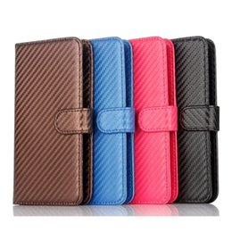 Wholesale Plus Size Vertical - Universal Size 4.7 to 5.5 inch Carbon Fiber Wallet Leather Case For Iphone 7 I7 Iphone7 6 6S Plus Vertical Fashion Stand Card Pouch Cover