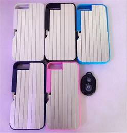 Iphone folding kickstand en Ligne-Pour iphone 7 luxe en métal selfie cas intégré dans bâti selfie bâton retardateur béquille cas couvre pour iphone 6 6 s 7 plus