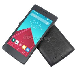 "Wholesale Dual Band 3g - Quad Band V23 4.5"" MTK6572 Dual-core Android4.4.2 Smartphone 512MB 4GB 3G Unlocked Dual SIM mobile Cell Phone Free Leather Case"