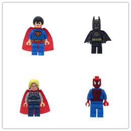 Wholesale Spiderman Blocks - SuperHeroes Marvel Avengers Military Figures Deadpool Hulk Batman spiderman Building Blocks Sets Kids toy Bricks