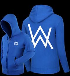 Wholesale Men S V Neck Cardigan - Mens Hoodies Sweatshirts Comedy Alan Walker Hip Hop Hoodie Black Jacket Men Clothes Fashion Hooded Sweatshirt