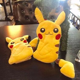 Wholesale Doll Silicone Case - New 3D Poke Pikachu Plush Coin Purse For Iphone 6 6S Plus 5.5 4.7 I6 Soft TPU Case Doll Cute Cartoon Zipper pocket Monster Skin Cover Luxury