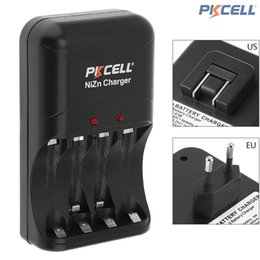 Wholesale Battery Charge Indicator - PKCELL 4 Slots Ni-Zn Battery Charger 8186 Fast Charge In AA   AAA Ni-Zn Rechargeable Battery with LED Indicator EU   US PLug BTY_60O