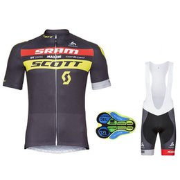 Wholesale Scott Clothes - Hot New 2017 SCOTT Cycling Jersey Short Sleeve Summer Men Cycling Clothing+Cycling Bib Shorts Set Maillot Bike Clothes Summer style