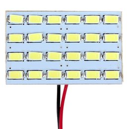 Wholesale Read Board - Universal Car LED Light Panel Dome Interior Reading Lamp Board White Color 24 SMD 5730 12V CEC_454