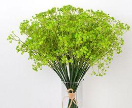 120pcs / lotGypsophila aliento del bebé de seda artificiales flores de seda falsa planta Home Wedding Party decoración del hogar desde fabricantes