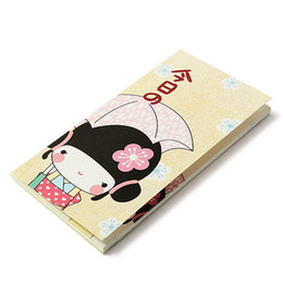 Wholesale Girls Journal - Wholesale-Lovely Cartoon Kimono Girl Diary Pockets Notebook Note Paper Notepad Journal Schduler School Stationery Supplies Colors Randomly