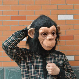 Lattice Animal Chimp head Mask Monkey Fancy Dress Pigro Bruno Mars Song Chimpanzee Cosplay Maschera Costume Teatro Prop Halloween da