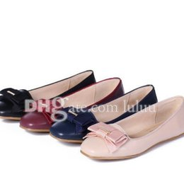 Wholesale Designer Dresses Feathers - summer fashion Office&Career Brand Party shoes Designer Genuine Women flats heel Leather Bowtie Beige Casual Ballet Flat Shoes Loafers Women