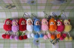 Wholesale Ddung Pendant Dolls - 50PCS Kawaii 9CM Mix Multi Colors Ddung DOLL Phone Charm Strap Lanyard Pendant TOY BAG Key Chain Charm Bouquet TOY DOLL
