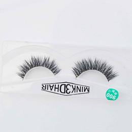 Wholesale Wholesale Feather Eyelashes - 3D Mink lashes 100% thick real mink hair false eyelashes natural for Beauty Makeup Extension fake eyelashes free shipping