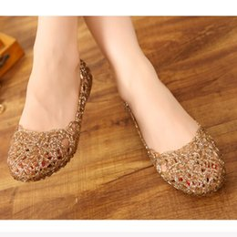Wholesale Gold Jelly Shoes - Women's Sandals 2017 New Summer Women Shoes Casual Jelly Tenis Feminino Mesh Flats Sandalias Femininas Fashion Women Sandals