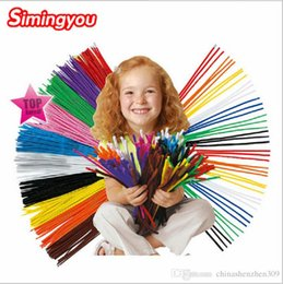 Wholesale Montessori Materials Wholesale - Simingyou 2016 200pcs Montessori Materials Chenille Children Educational Toy Crafts For Kids Colorful Pipe Cleaner Toys Craft